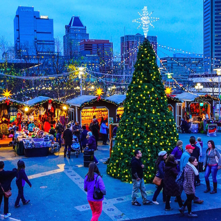 Christmas Town 2019.Christmas Village At The Inner Harbor Baltimore Md Jds